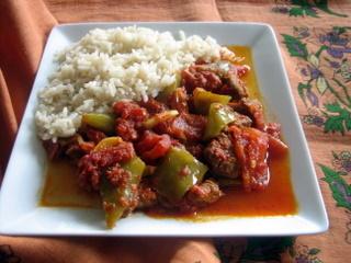recepte: Adanas gaļas sautējums